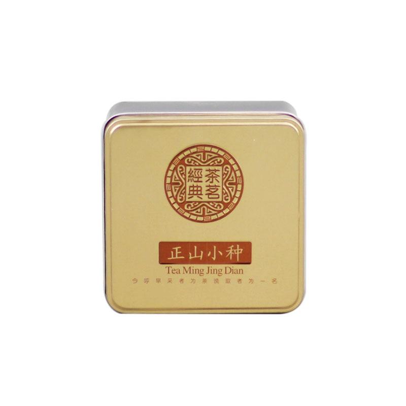 Xin Jia Yi embalaje personalizado Popular lata de té de Metal caja de embalaje de alimentos rectángulo lata de té con barniz brillante