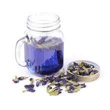 Nuevo té de 100g Clitoria Ternatea, té de guisante de mariposa azul tailandés, vitamina A mezclada en café verde, Infusor de té