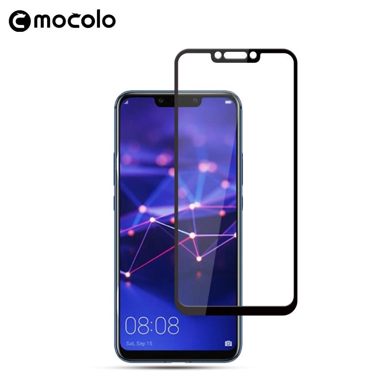 Mocolo 2.5D 0,33mm cubierta de pantalla completa 9H protector duro de pantalla de vidrio templado para Huawei Mate 20 Lite película de vidrio para mate 20 lite