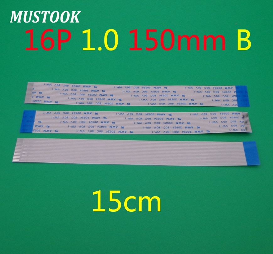 100pcs 16 pin FFC FPC plano flexível cabo 1.0 milímetros arremesso 16pin B Reversa/Anisotropy Comprimento 150 milímetros largura 17mm Fita Flex Cable