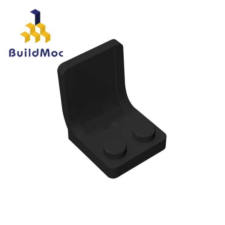 BuildMOC 4079 Minifigure Utensil Seat Chair 2x2 Thick For Building Blocks Parts DIY LOGO Educational Tech Parts Toys