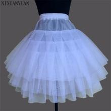 Nuevas enaguas para niños, vestido Formal/de flores para niña, 3 capas, sin capucha, crinolina corta, ropa interior para niñas/niños