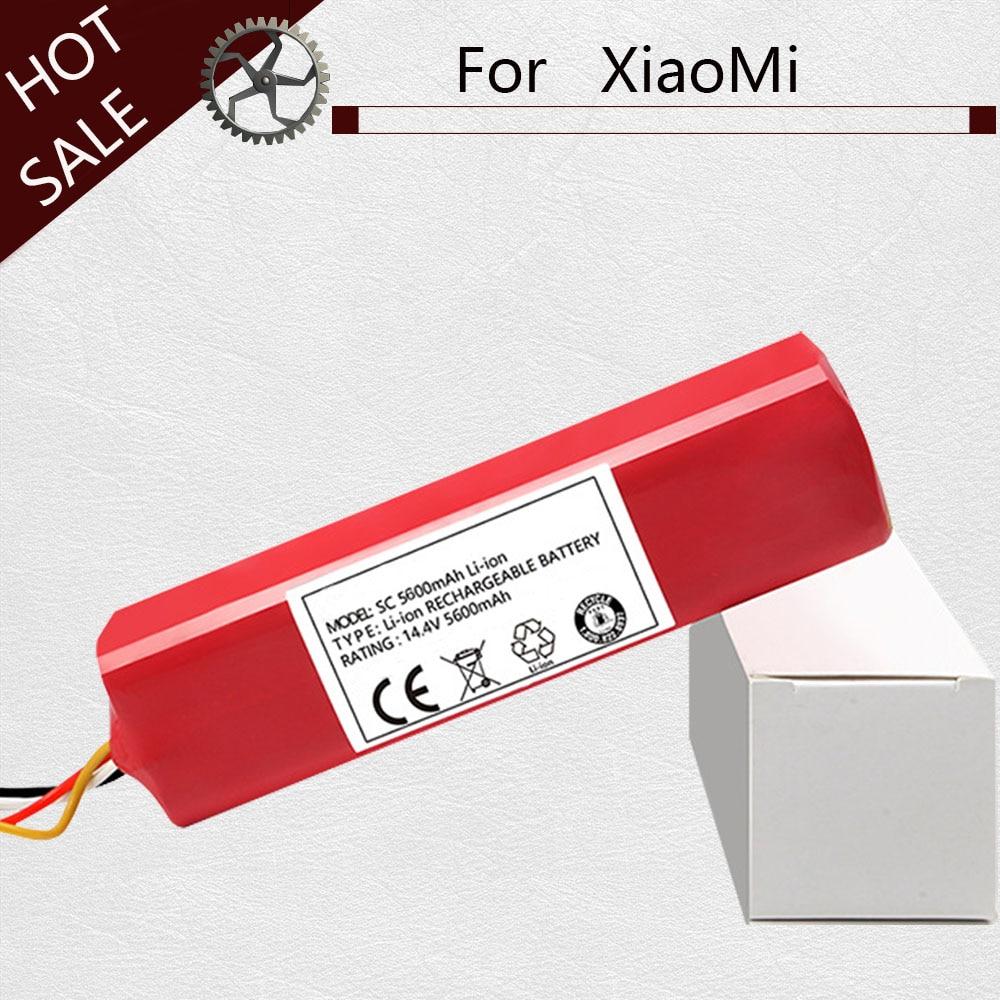بطارية 5600 مللي أمبير لأجزاء مكنسة كهربائية xiaomi mi ، ملحقات xiaomi Roborock S50 S51