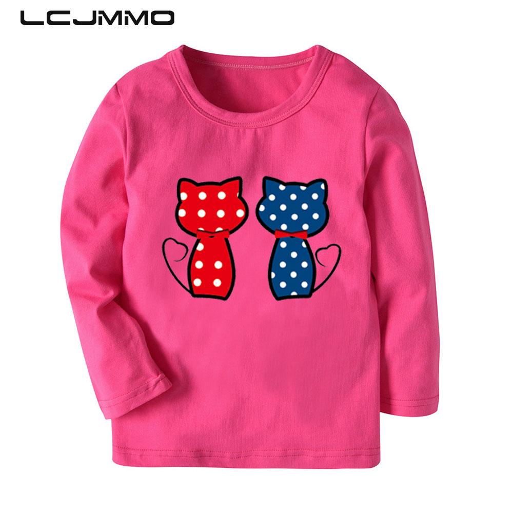 LCJMMO 2-8Y camiseta para niñas 2018, camiseta de primavera y otoño, camisetas rayado para niñas de manga larga, camisetas casuales de dibujos animados bonitos para niños