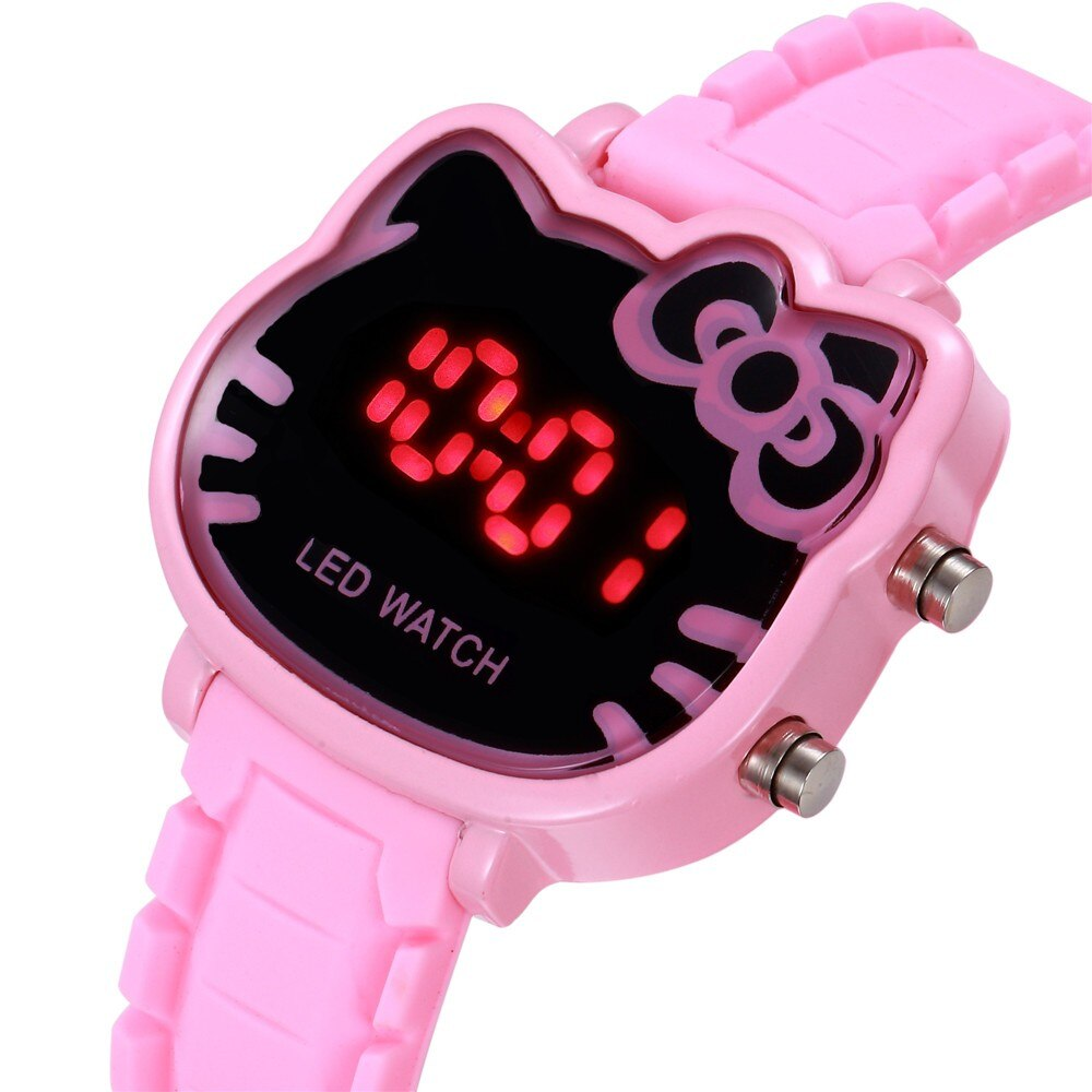 Children Watch Led Sports Kids Watches Girls Cartoon Dial Led Digital Clock Bracelet Wristwatches Fo