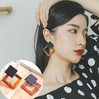 IPARAM 2019 Fashion Statement Acrylic Resin Geometric Earrings Women Trend Square Pendant Earrings Charm Brincos Gifts