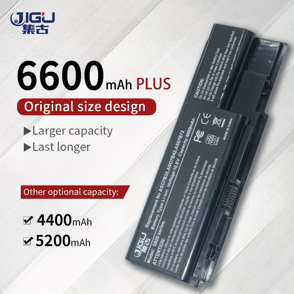 Batería de ordenador portátil JIGU, AS07B31, As07b51, para Acer Aspire 5520, 5720,...