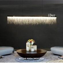 Luminaires suspendus avec pampille nordique, design postmoderne, restaurant, hôtel de luxe, chaîne dingénierie, art du salon, luminaires suspendus