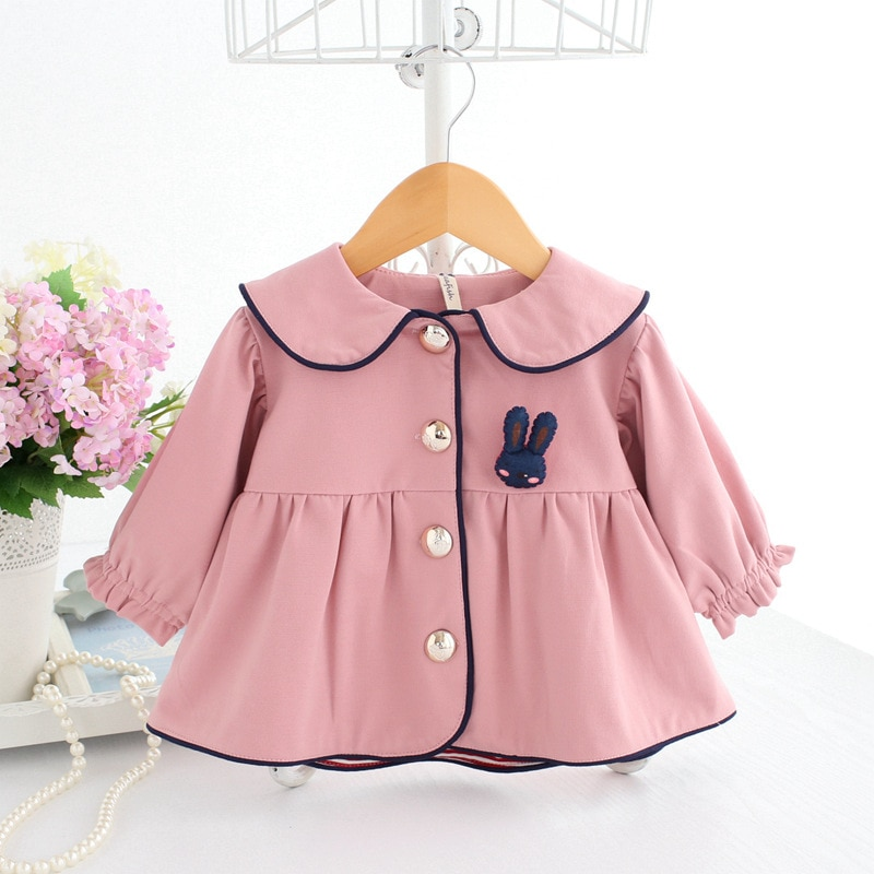 Детские пальто розовая детская ветровка с длинным рукавом Зимняя одежда куртка