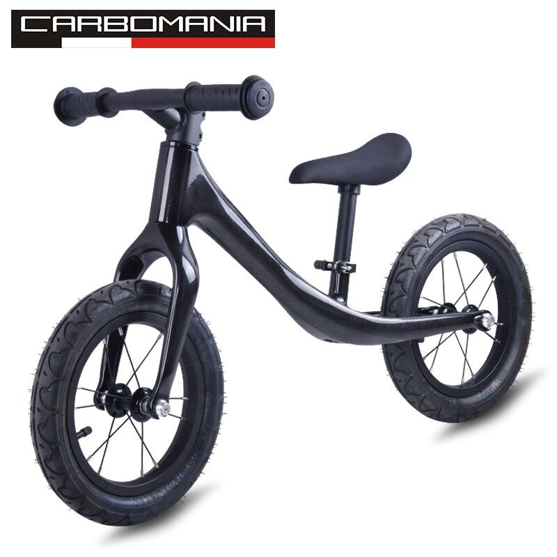 2018 bicicleta de equilibrio sin Pedal 3 K bicicleta de equilibrio de carbono para niños de 2-6 años completa bicicleta de carbono para niños