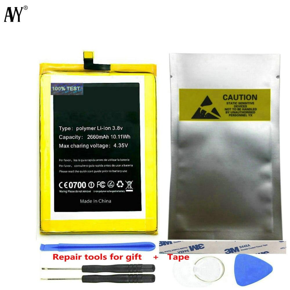 Batería AVY para Doogee F5 2660mAh reemplazo para teléfono móvil baterías recargables Bateria 100% número de seguimiento probado