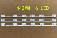 50pcs konka kdl48jt618a light strip 35018539 lights 6 lamp length 44cm aluminum substrate strip quickly dissipating connector