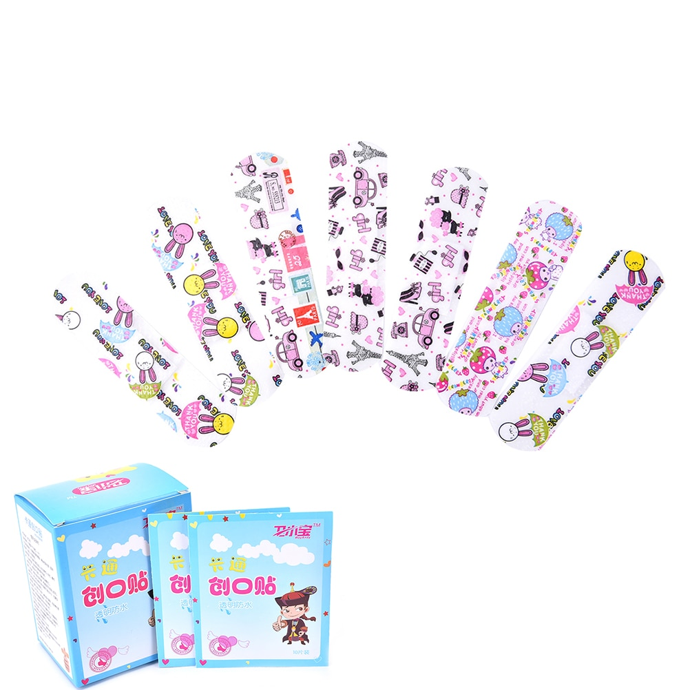 100PCS Children Waterproof Breathable Cartoon Band Aid Hemostasis Adhesive Bandages First Aid Emergency Kit For Kids