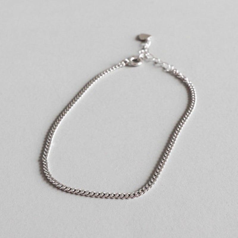 bestlybuy corrente de prata corrente de prata esterlina 925 tornozelo para mulheres