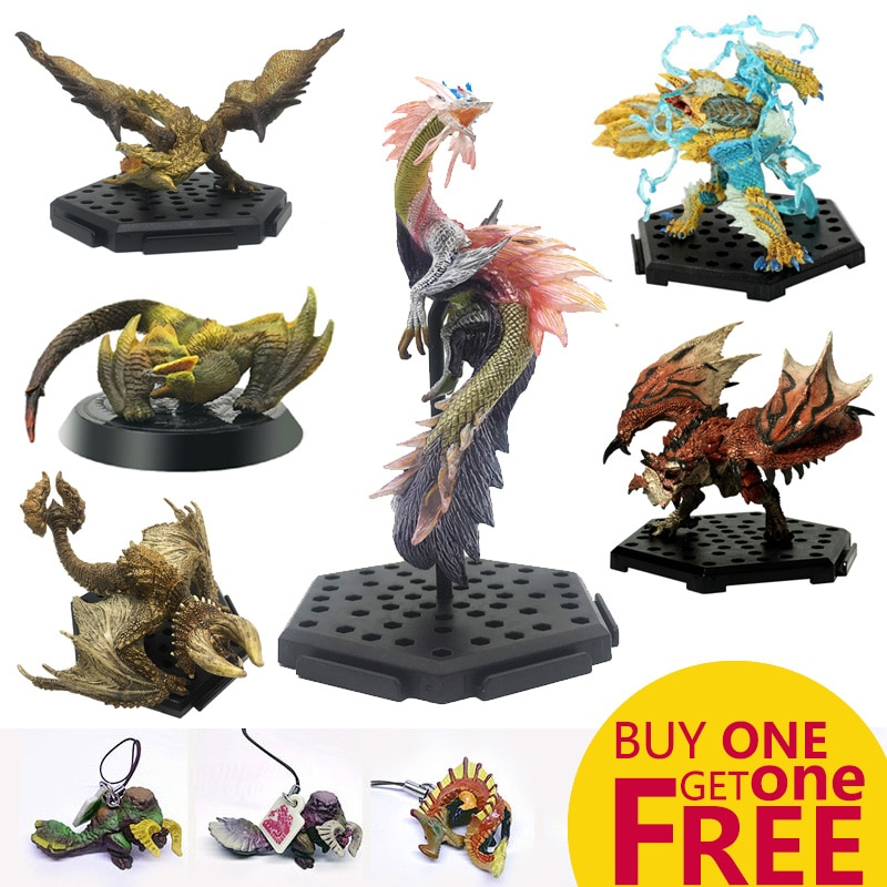 MHW Game Monster Hunter World PVC Models Toy Collectible Hot Dragon Monster Action Figure Toy Monster Hunter monster hunter generations ultimate 3ds monster hunter world game monsters figures action