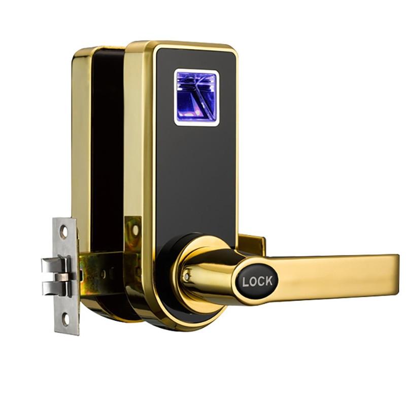 Cerradura de puerta eléctrica biométrica, huella dactilar inteligente Digital, 2 llaves, cerradura inteligente electrónica, cerradura de entrada inteligente, huella dactilar 818