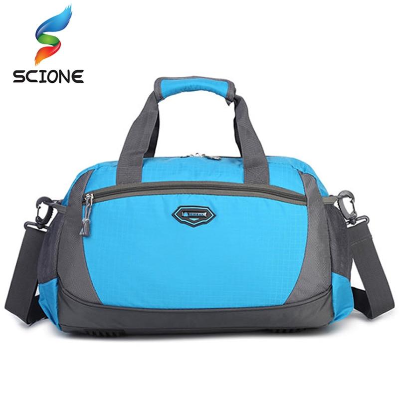 Спортивная сумка из нейлона водонепроницаемая многофункциональная дорожная для