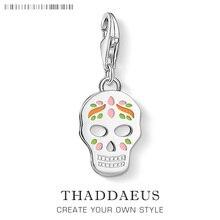 2020 mode mexicain sucre crâne breloque jour de la mort squelette pendentif idéal pour bracelet femmes hommes bijoux 925 en argent Sterling cadeaux