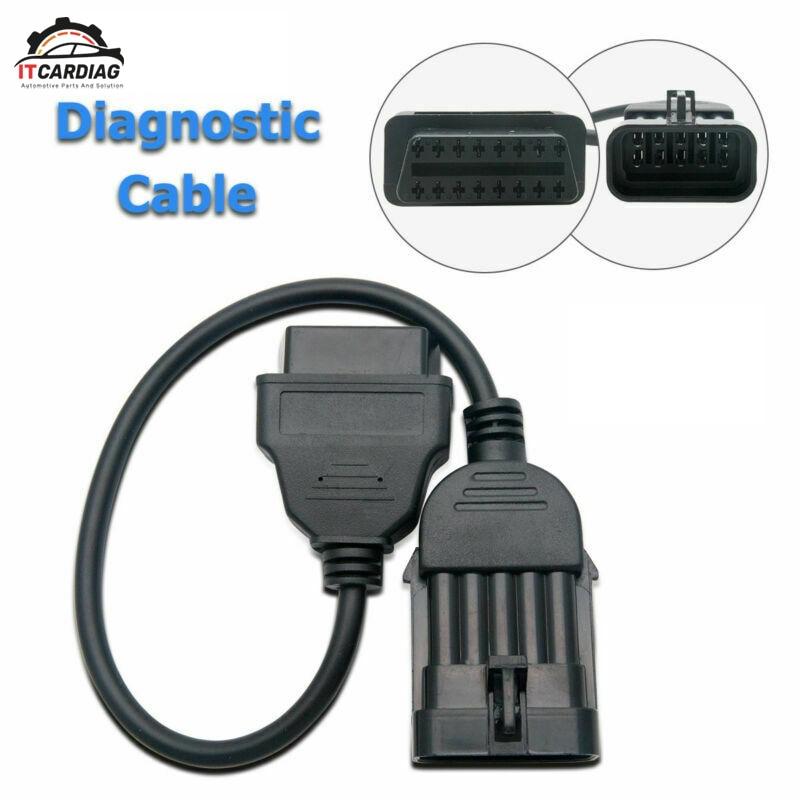10 pines a 16 pines OBD OBD2 adaptador Conector de diagnóstico Cable para Opel
