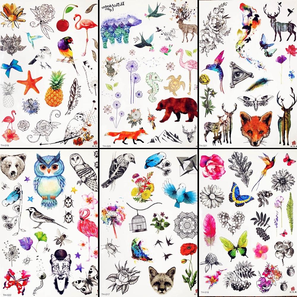 Gadgets dibujos animados niños Hans tatuaje chicos cara de fiesta tatuaje de flor temporal brazo de zorro impermeable tatuaje precioso suministros Festival pasta
