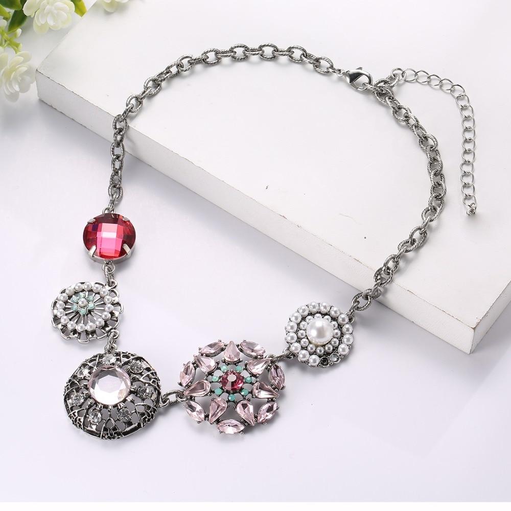 Collar de cristal estilo retro de aleación BEADSLAND, joyería de moda, regalo fino para mujer