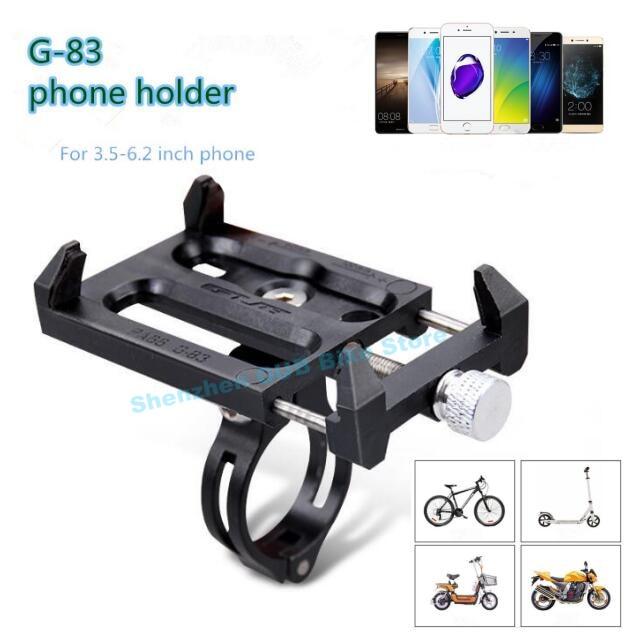 GUB G-83 bicicleta de bicicleta Universal antideslizante 3,5-6,2 pulgadas soporte de montaje para teléfono inteligente teléfono móvil manillar soporte de Clip