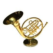Modèle de corne de lune modèle Instrument de musique Miniature bureau décor affichage réaliste mélomane cadeau danniversaire