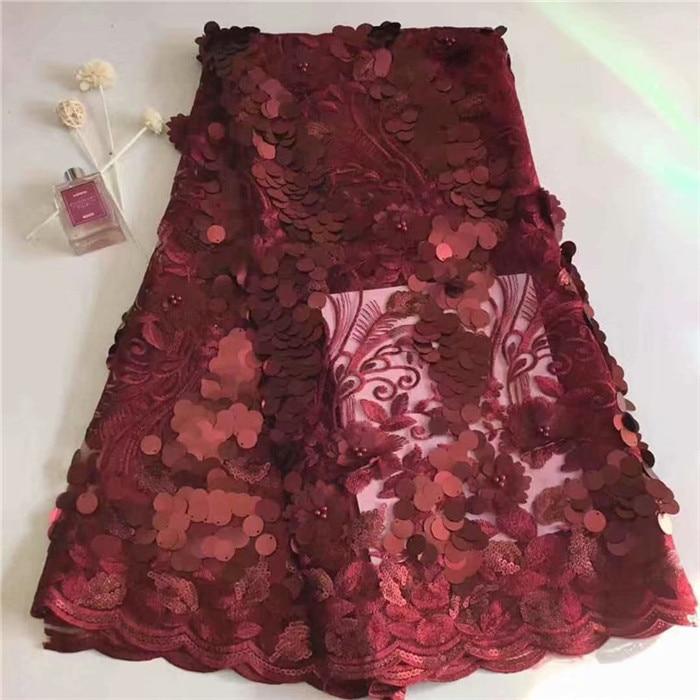 3D Flor Do Laço de Tecido Bordado, o Mais Recente Rendas Nigeriano Tecidos Azul Royal, laço de Tecido de luxo Lilás rendas Para Vestidos De Noiva
