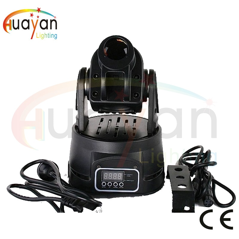 GOBOS LED15W Mini Luz de punto de cabeza móvil, luz de punto de cabeza móvil, luz de lavado de cabeza móvil, luz de efecto de escenario para Bar, KTV, hotel