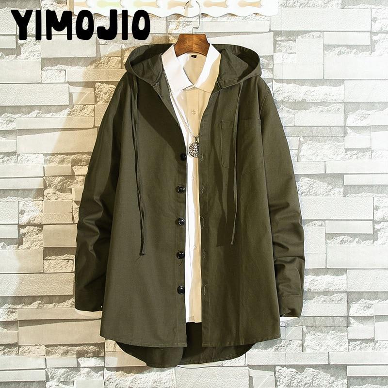Coat Men Casual Long jacket men Trench coat Streetwear Slim Long coat men Solid Male Windbreaker Trench coat for men Hot Style