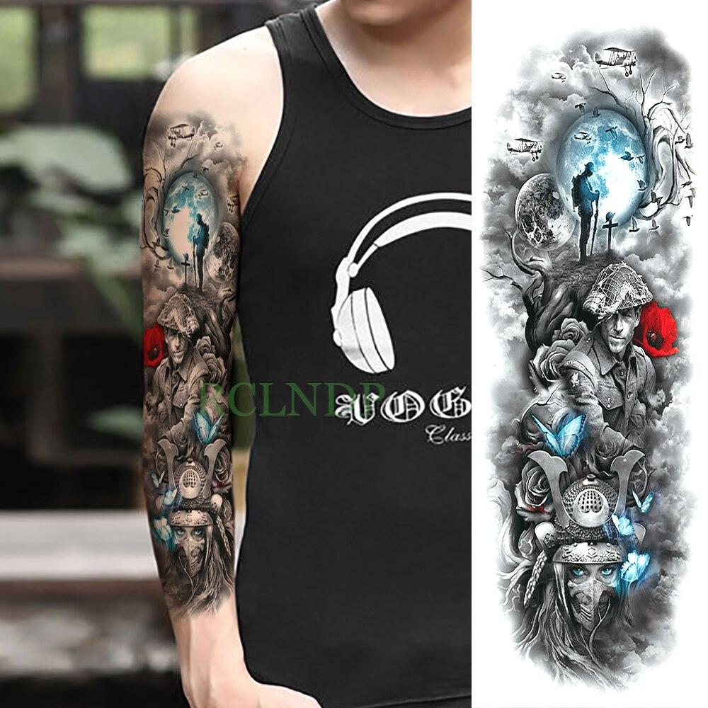Etiqueta Do Tatuagem Temporária à prova d água Mágica Guerra Borboleta braço cheio tamanho grande falso tatoo tatto flash grande manga para mulheres dos homens