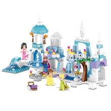 Briques de construction château de glace reine des neiges, sirène, beauté, princesse, jouets, princesse pour filles Compatible avec Lepining