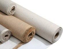 5 m linen blend primed blank canvas 고품질 레이어 유화 캔버스 아크릴 페인팅 one roll, 28/48 cm 너비