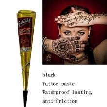 New Body Paint Indian Henna Cones  Indian Henna Tattoo Paste for Temporary Tattoo Sticker Mehndi Body Art Cream Waterproof TSLM1