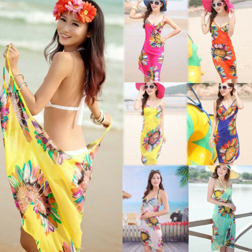 ¡Nuevo estilo 2019! traje de baño para mujer de Malla con tiras florales, traje de baño para mujer, Vestido de playa para mujer, pareo Sexy de verano