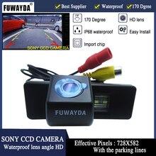 Sony ccd رقاقة سيارة للرؤية الخلفية عكس الكاميرا fuwayda لسيتروين c4/c5/c-النصر/c كواتر ، بيجو 307/307cc/308cc/1007 hd