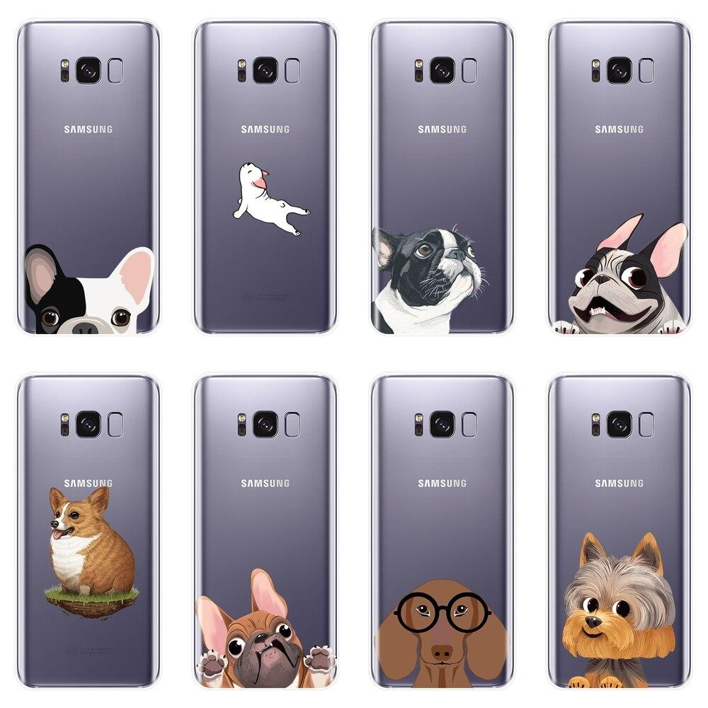 Weiche Telefon Fall Für Samsung Galaxy Note 4 5 8 9 Mops Hund Corgi Silikon Zurück Abdeckung Für Samsung Galaxy s5 S6 S7 Rand S8 S9 Plus