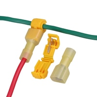 Free Shipping Brand New 50PCS Yellow  Quick Splice Wire Terminals&Male Spade Connectors 2.5-4mm 22-10AWG Electrical Contacts