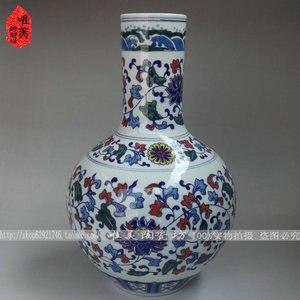 Jingdezhen ceramic blue and white vase blue and white antique blue and white at home