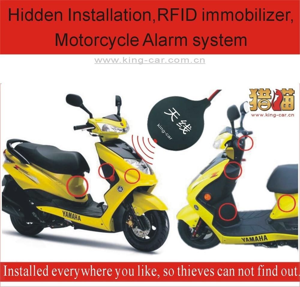 6 ~ 12 v 2 años de garantía RFID electrónica alarma motocicleta motor sistema inmovilizador