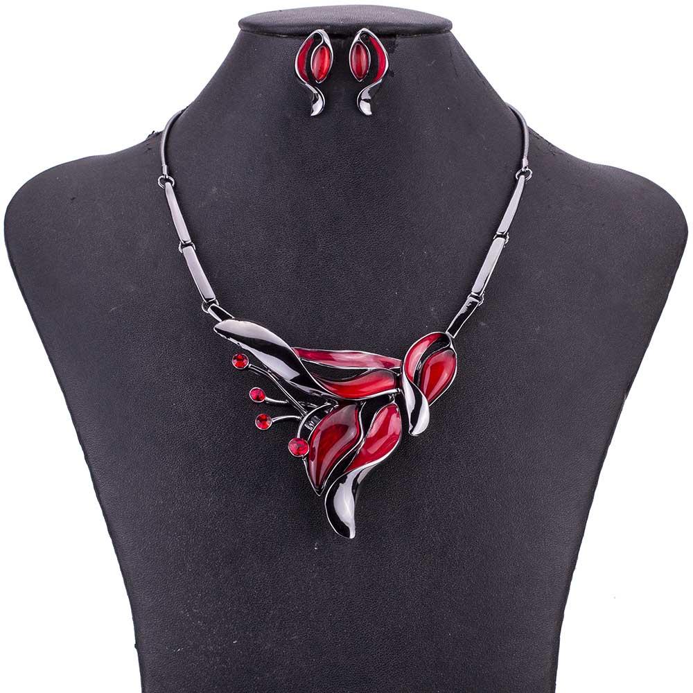 MS1505014 rojo collar pendiente alta calidad joyería de mujer establece nuevo plomo y níquel libre regalos de fiesta