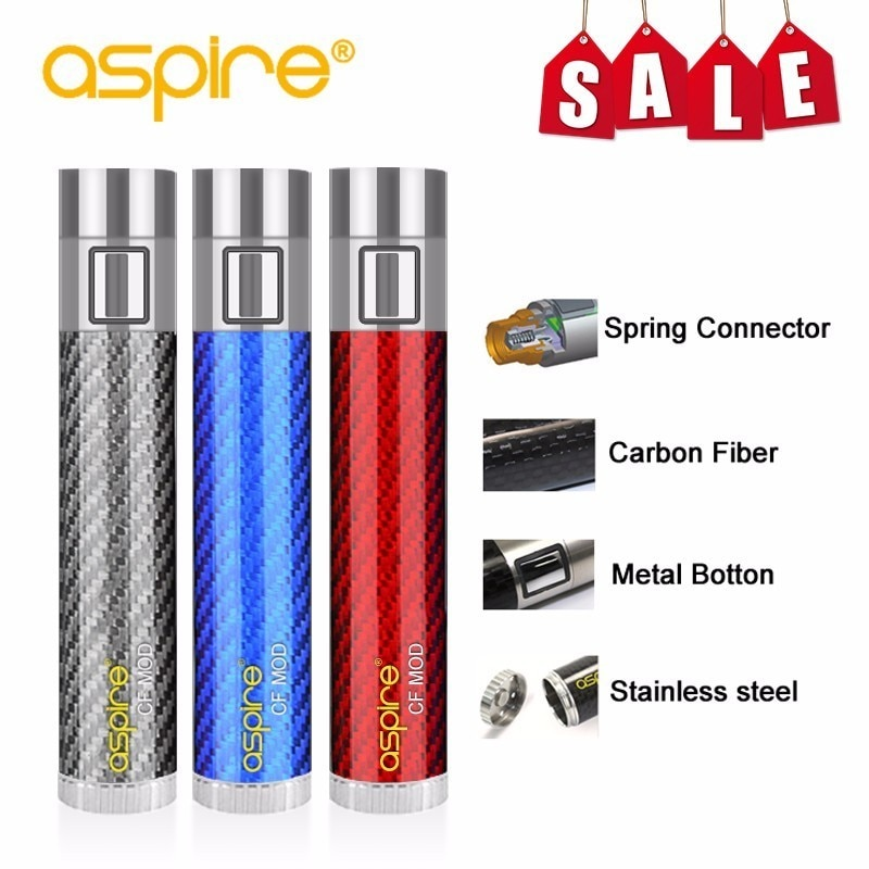 Electronic Cigarette Mod Special Offer Vape Device aspire CF Battery Spring Connector 510 Carbon Fib