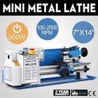 VEVOR Hot Sale High-Precision Variable Speed Benchtop Metal Lathe Machine