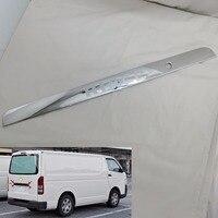REAR TRUNK LID COVER Car Rear Trunk Lid Cover Trim rear door trim Fit For hiace 2008 2012 2014 abs chrome 1pce per set