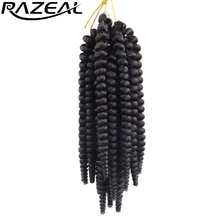 Razeal 100g 20 Strands Synthetic Hair Curly Crochet Braids Hair Toni Curl Braiding Hair Extensions High Temperature Fiber