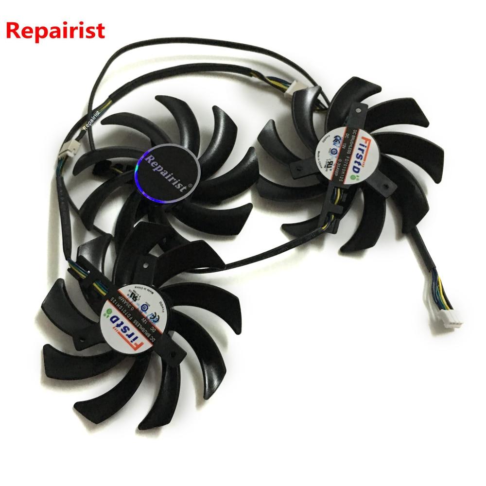 3 шт./лот R9-290X/390/390X GPU VGA кулер вентилятор для Sapphire R9 290X 4G R9 390 8G PRO R9 390X 8G D5 OC Tri-X охлаждение видеокарты