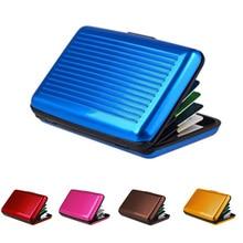 Étanche ID carte de crédit porte-cartes portefeuille sac à main antimagnétique en aluminium cartes sac affaires carte de crédit boîtier en métal