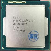 PC procesador Intel Core I7 4770 I7-4770 CPU LGA 1150 Quad-Core cpu 100% que funciona correctamente procesador de escritorio