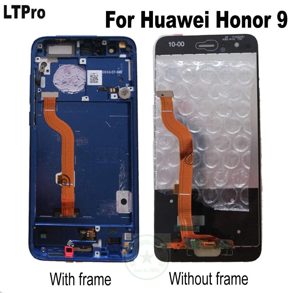 """LTPro probado pantalla LCD Panel de pantalla táctil digitalizador con marco para Huawei Honor 9 STF-L09 STF-AL10 STF-AL00 5,15"""""""