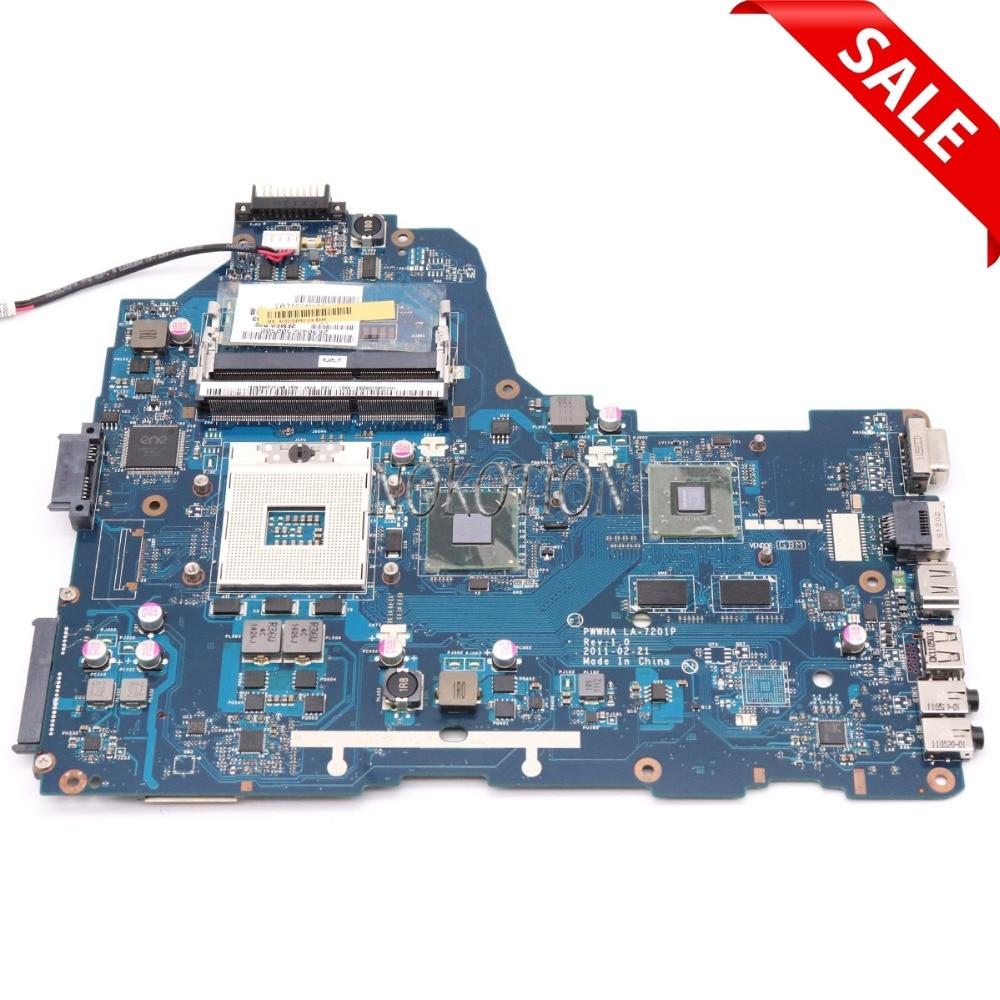NOKOTION PWWHA LA-7201P Rev 1,0 MB K000128440 Für toshiba satellite C660 Laptop motherboard HM65 GeForce